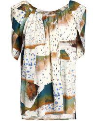 Vionnet - Printed Cotton-blend Blouse - Lyst