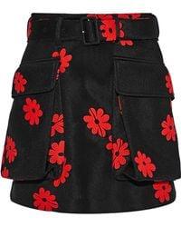 Simone Rocha - Embroidered Neoprene Mini Skirt - Lyst