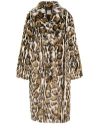 Moschino - Leopard-print Faux Fur Coat - Lyst