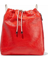 Brunello Cucinelli | Bead-embellished Coated Textured-leather Backpack | Lyst