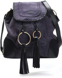 See By Chloé - Polly Leather-trimmed Tasseled Suede Shoulder Bag - Lyst