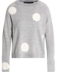 Paper London - Dorothy Intarsia Wool Sweater - Lyst