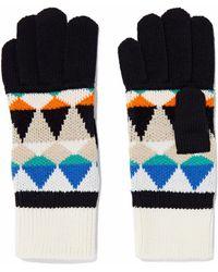 Missoni - Intarsia Wool-blend Gloves - Lyst