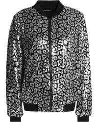 MICHAEL Michael Kors - Sequined Open-knit Bomber Jacket - Lyst