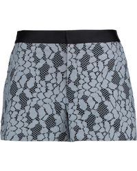Alexis - Jaeger Satin-trimmed Corded Lace Shorts Sky Blue - Lyst