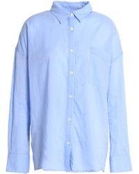 Line - Cotton Shirt Light Blue - Lyst