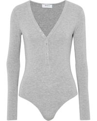 Manchester Great Sale Sale Online Clearance Lowest Price Bailey 44 Woman Mélange Stretch-jersey Turtleneck Bodysuit Gray Size L Bailey 44 Free Shipping New Arrival High Quality Cheap Online JNrObX