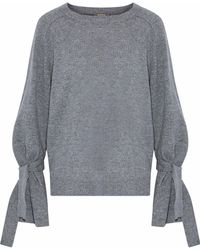 N.Peal Cashmere - Tie-detailed Cashmere Sweater - Lyst
