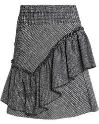 Maje - Ruffled Cotton-blend Jacquard Mini Skirt - Lyst