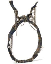 Maison Michel - Nito Embellished Plaid Cotton Headband - Lyst