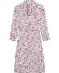 Vionnet - Printed Silk-twill Midi Dress - Lyst