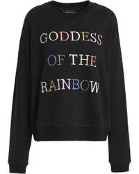 Needle & Thread - Embroidered Cotton-blend Terry Sweatshirt - Lyst