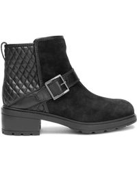 Hogan - Panelled Suede And Quilted Leather Ankle Boots - Lyst