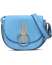 Nina Ricci - Compas Suede Shoulder Bag Light Blue - Lyst