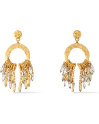 Elizabeth Cole - Woman Cadence Hammered Gold-plated Crystal Earrings Gold Size -- - Lyst