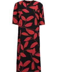 Marni - Printed Silk Crepe De Chine Dress - Lyst