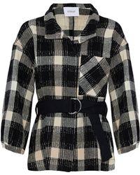10 Crosby Derek Lam - Belted Checked Wool-blend Coat - Lyst