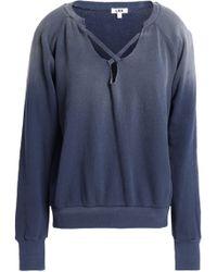 LNA - Woman Cotton-terry Sweatshirt Storm Blue - Lyst