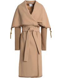 Agnona - Knitted-paneled Wool-crepe Coat - Lyst