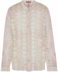 Roberto Cavalli - Snake-print Silk-georgette Shirt - Lyst