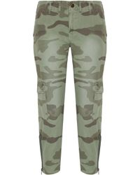 Current/Elliott - The Utilitarian Camouflage-print Cotton-canvas Tapered Pants - Lyst