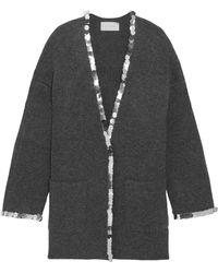 Christopher Kane - Sequin-embellished Wool-blend Cardigan - Lyst