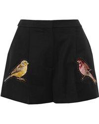 Stella McCartney - Embellished Wool Shorts - Lyst
