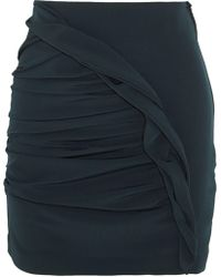 Carmen March - Basilico Ruched Crepe Mini Skirt - Lyst
