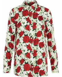 Alexander Wang - Floral-print Silk-satin Twill Shirt - Lyst