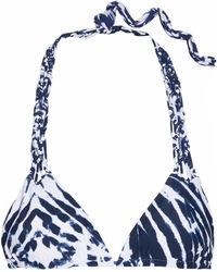 Mikoh Swimwear - Macramé-trimmed Tie-dye Bikini Top - Lyst