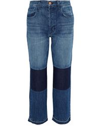 J Brand - Cropped Patchwork Mid-rise Straight-leg Jeans - Lyst