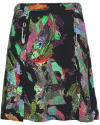 Versus - Embellished Printed Crepe Mini Skirt - Lyst