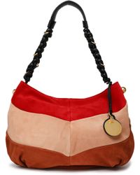 See By Chloé - Maddie Color-block Suede Shoulder Bag - Lyst