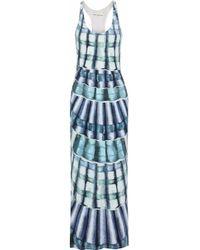 Mara Hoffman - Printed Stretch-modal Jersey Maxi Dress - Lyst