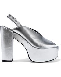 Opening Ceremony - Gloria Metallic Leather Platform Sandals - Lyst