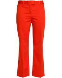 Boutique Moschino - Cropped Stretch-cotton Kick-flare Trousers - Lyst