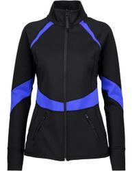 Purity Active - Woman Two-tone Scuba Jacket Black - Lyst
