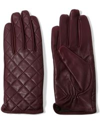 Sandro - Aisha Quilted Leather Gloves - Lyst