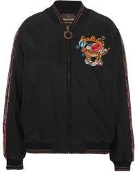 Roberto Cavalli - Embellished Embroidered Silk Bomber Jacket - Lyst