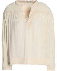 Étoile Isabel Marant - Embroidered Cotton-blend Gauze Top - Lyst