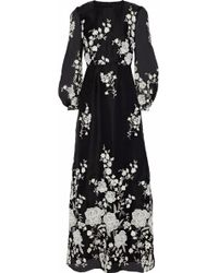 Co. - Embroidered Organza Maxi Dress - Lyst