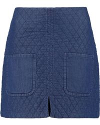 See By Chloé - Quilted Cotton Mini Skirt - Lyst
