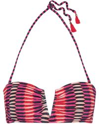 Heidi Klum - Catalina Kisses Tasselled Printed Bandeau Bikini Top - Lyst