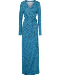 ac1e365b952 Diane von Furstenberg - Woman New Julian Floral-print Silk-jersey Maxi Wrap  Dress