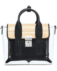 3.1 Phillip Lim - Pashli Elaphe, Leather And Woven Shoulder Bag - Lyst