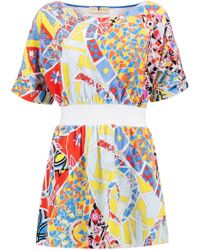 Emilio Pucci - Printed Cotton-terry Coverup - Lyst