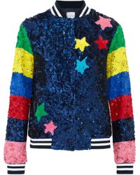 Mira Mikati - Sequined Silk Bomber Jacket - Lyst