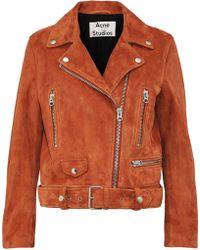 Acne Studios - Suede Biker Jacket - Lyst