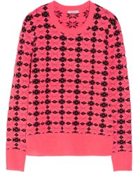 Emma Cook - Neon Patterned Knitted Sweater - Lyst
