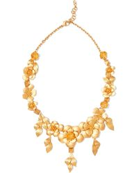 Valentino - Lacquered Brass Necklace - Lyst